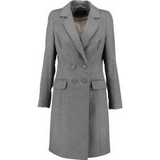 de luxe gris PAUL COSTELLOE NOIR 100% MANTEAU CACHEMIRE UK14 US10