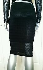 $80.00 100% AUTHENTIC NWT BEBE  MIDI KNIT PENCIL SKIRT SIZE SMALL