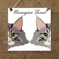 NORWEGIAN FOREST gatto piastrella targa ceramica cat