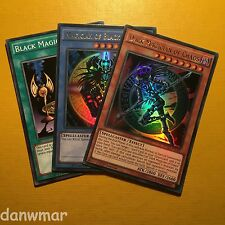 Dark Magician of Chaos + Black + Illusion Ritual Ultra Rare 1st Edition YuGiOh!