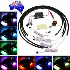 "7 Color LED Under Car Glow Underbody System Neon Lights Kit 36"" x 2 & 24"" x 2 IB"