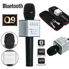 Q9 Wireless Handheld Microphone Portable KTV Karaoke Stereo USB Player Bluetooth