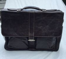 NEW**Argentinian Brown Calf Leather***HALO***Large Briefcase/ Attache*****$1450