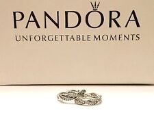 Authentic Pandora Twist Of Fate Earrings #290576CZ Pandora Hinged Box Included