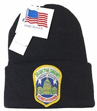 Drain the Swamp! Trump Police Metropolitan Police D.C. Thinsulate Knit Hat NAVY