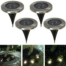 Outdoor Solar Power LED Path Way Wall Mount Garden Fence Lamp Light Landscape 4X