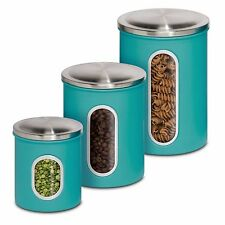 Canisters Sets For The Kitchen Coffee Tea Sugar Jars Metal Storage Containers