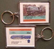 1937 LMS Stanier CORONATION SCOT Class 4-6-2 Train Stamp Keyring (Loco 100)
