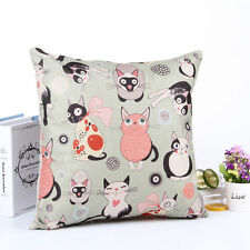 Cushion Cover Various Cats pattern Cotton Linen Throw Pillow Cases Home Decor