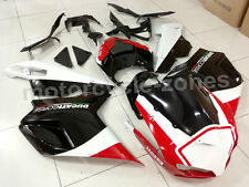 Black w/ Red Complete Fairing Injection Kit for 2007-2012 Ducati 848 1098 1198