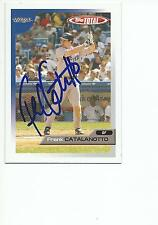 FRANK CATALANOTTO Autographed Signed 2005 Topps Total card Toronto Blue Jays COA