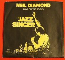NEIL DIAMOND Love on the Rocks, 45 PICTURE SLEEVE ONLY - NM