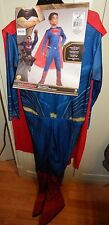 Halloween Costume Complete Superman Set Large Kid Size 8 to 10 Years Rubies 120G