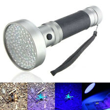 100LED UV Ultra Violet Blacklight Flashlight Light Inspection Lamp Torch Outdoor