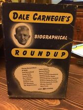1944 SIGNED DALE CARNEGIE BIOGRAPHICAL ROUNDUP