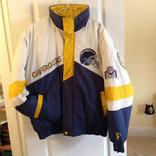 NFL CHARGERS INSULATED BOMBER JACKET COAT LOGOS BIG&TALL SUPER LOGOS XGD / XL