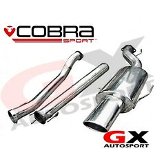 VX73 Cobra Sport Vauxhall Astra H SRI 2.0T 04-10 Cat Back Exhaust Non Resonated