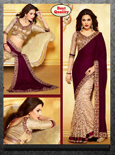 Bollywood saree Indian Pakistani sari Ethnic Designer Party Wear Wedding Saree