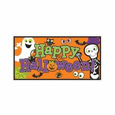 Happy Halloween Foil Banner - 1.65 m x 85cm - Indoor & Outdoor Banners