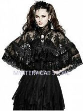 New Punk Rave Lolita Double Layer Lace Cloak Cape Top LY060 AUSTRALIAN STOCK