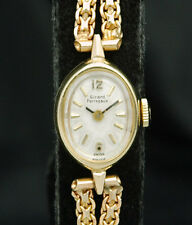 GIRARD PERREGAUX Solid 14K GOLD CASE & BAND VTG RARE Ladies WATCH Swiss LUXURY X