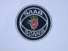 SAAB CARS BLACK & RED GRIFFIN SWEDEN SCANIA COAT OF ARMS SEW/IRON ON PATCH