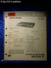 Sony Service Manual S D50L (#1083)