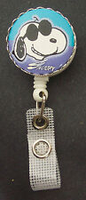 Cool SNOOPY Retractable Reel ID Card Badge Holder/Key Chain Ring PEANUTS