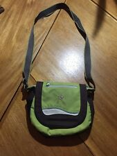 Sherpani Milli Green Brown Crossbody Messenger Travel Hiking Bag Change Purse
