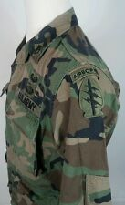 Vtg AIRBORNE CAMO JACKET Shirt S Paratrooper Helicopter Patch Vietnam Military