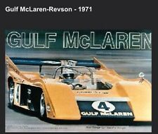 Gulf McLaren-Revson-1971 Hard to Find FREE SHIP Car Poster. Own It!