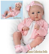 "Ashton Drake ""ANNIKA"" PERFECT IN PINK-LIFELIKE BABY DOLL-HAND ROOTED HAIR-NEW !"