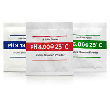 pH Meter Buffer Solution Powder 3 Piece Set Calibration PH Water Quality Tester