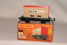 Matchbox Superfast #25 Flat Car Container Train, Nice & with Original Type L Box