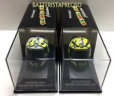 MINICHAMPS VALENTINO ROSSI AGV HELMET 1/8 2013 YAMAHA TEST VALENCIA TEST SEPANG