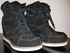 Jeffrey Campbell Ibiza Black Suede Venice Wedge ankle boot size 6