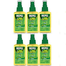 Repel Lemon Eucalyptus Natural Insect Repellent 4-Ounce Pump Spray, Case of 6