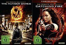 Die Tribute von Panem - Teil 1+2 - The Hunger Games + Catching Fire - 3 DVD Neu