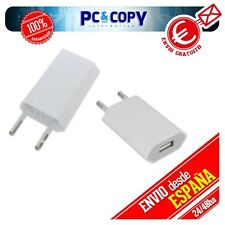 CARGADOR CORRIENTE USB RED DE PARED UNIVERSAL PARA MOVIL ANDROID BLANCO 5V 1A