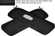 RED STITCH FITS ALFA ROMEO GIULIETTA 101 54-62 2X SUN VISORS LEATHER COVER ONLY