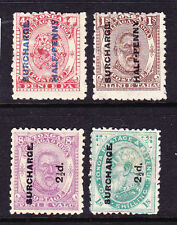 TONGA  1894  SURCHARGES SET 4 MH/MNG  SG 21/24