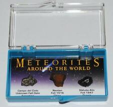 METEORITES AROUND THE WORLD Display Nantan, Campo, Sikhote-Alin #175 4o