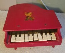 Vintage Schoenhut Antique Toy or Doll wooden Grand Piano