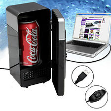 USB Mini Desk Fridge & Drink Warmer for Laptop PC Notebook NEW Black