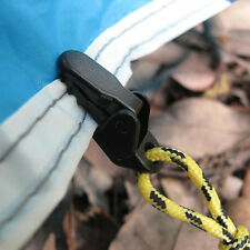 10Pcs Heavy Duty Tarp Clips Clamps For Camping Canopy Tent Canvas Black