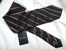 Gieves and Hawkes Brand New with tag Salmom Stripe Silk tie RRP £75