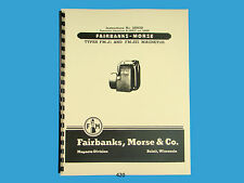 Fairbanks Morse Magneto Instruction & Parts Manual for FM-J1 & FM-JE1 Mags *420
