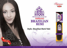 "SOPRANO Brazilian Remi Yaki 14""-OFF BLACK(1B) 100% Human Weaving HAIR"