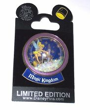 LE Disney Pin✿Peter Pan Tinker Bell Tink Snow Globe Spotlight Magic Kingdom Rare