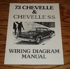 1973 Chevrolet Chevelle & SS Wiring Diagram Manual 73 Chevy